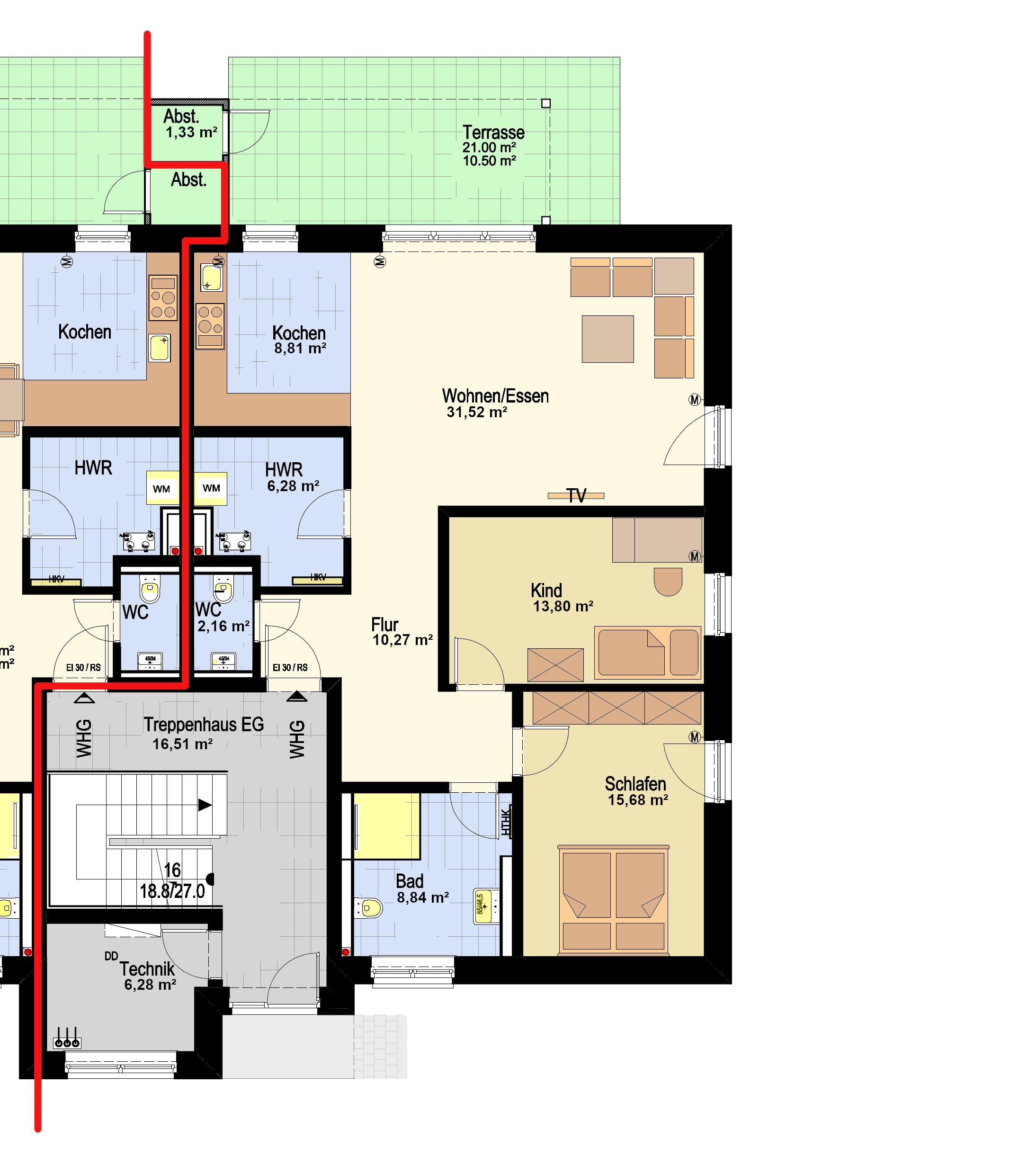 EG Haus 1 - WHG 1_Haus 2 - WHG 2