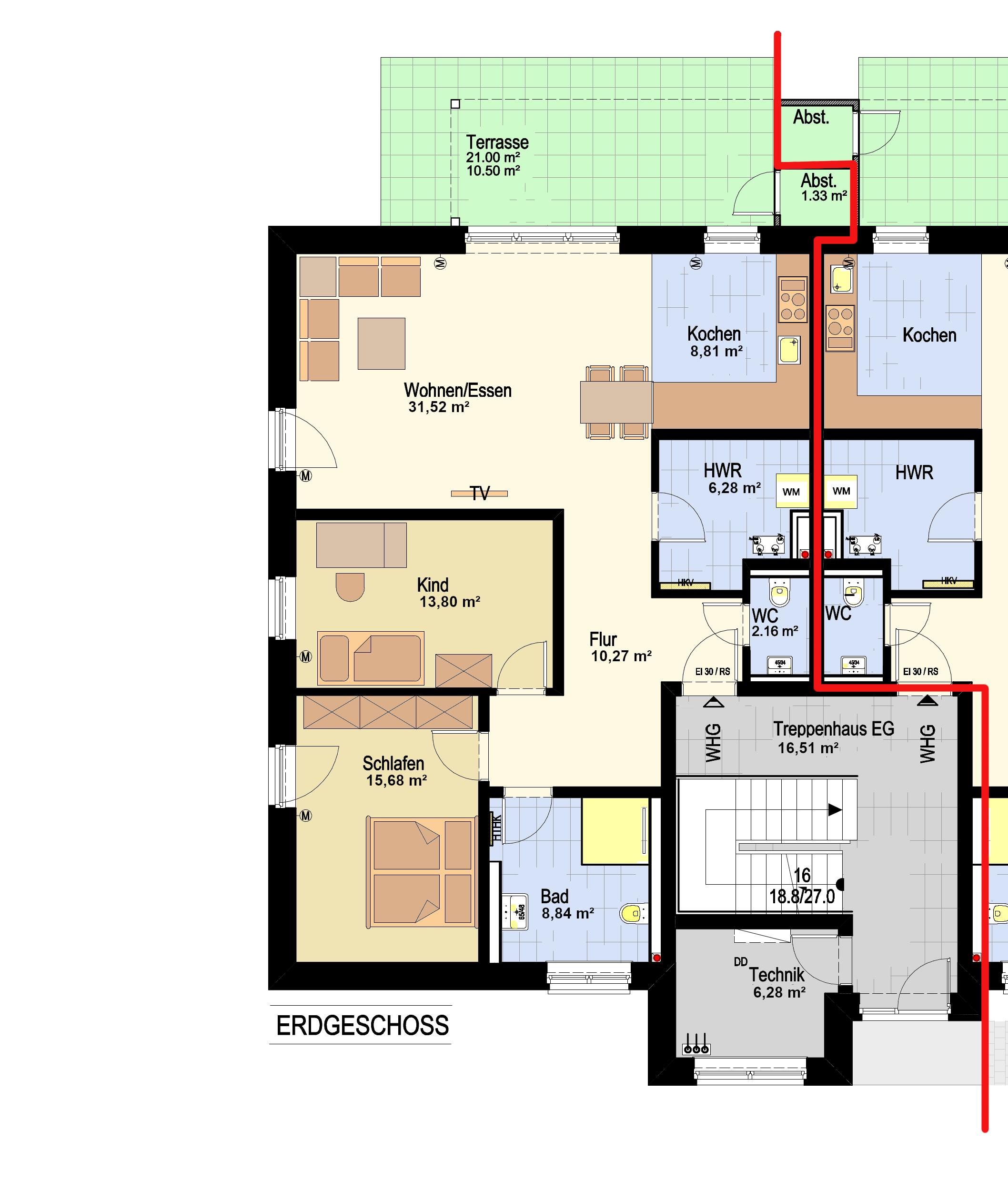 EG Haus 1 - WHG 2_Haus 2 - WHG 1